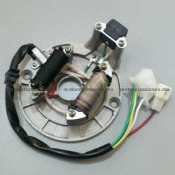 Estator 2 bobinas AC 70 y 90cc - Italika ST70 / ST90 / Estrada 70 / Estrada 90 - Zanetti Bee 70 y 90