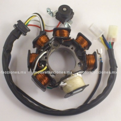 Estator 7 bobinas AC Yamaha YBR (Conector 4+2 vías)