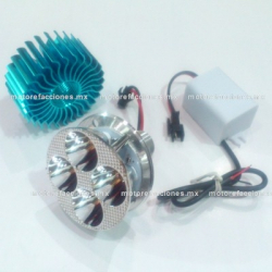 Foco Universal Hiper-LED para Faro (luz blanca) 4 Unidades