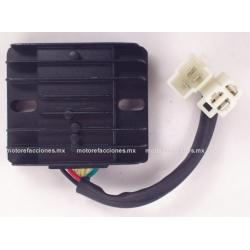 Regulador 6 puntas 2 conectores – Motocicletas 200 a 400cc - Italika 250Z