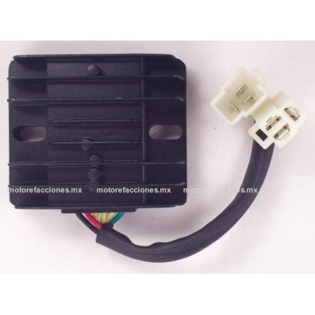 Regulador 6 puntas 2 conectores – Motocicletas 200 a 400cc - GENERICO