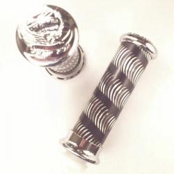 Puños Cromados de Aluminio - Cromo / Negro