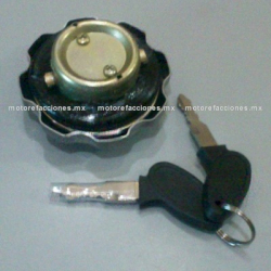 Tapon de Gas Italika FT125 / FT150 TS / DT125 / DT150 Delivery c/ Llaves (cromado)