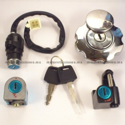 Switch Completo con Llave Motocicleta - Italika FT125 / DT125 / DT150 Delivery