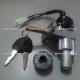 Switch Encendido Completo - Motonetas 50 a 125cc - Vento ZIP - (Conector 3 + 1 puntas) - Base Recta - Perno Largo