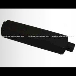 Escape Largo STD (Cilindro) para Motonetas - Italika WS150 / DS125 / DS150 / TS170 - Negro Mate
