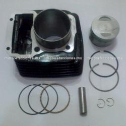 Kit de Cilindro Motocicleta - Italika FT150 GT (negro) - (Piston Corto)