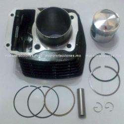 Kit de Cilindro Motocicleta - Italika FT125 / DT125 / DT125 Sport / FT125 Sport / FT125 Clasica / XFT125 (negro)