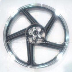 Rin Delantero Italika FT150 / FT150 GT - (Negro c/ Cromo)