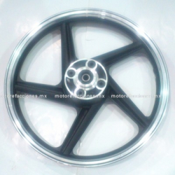 Rin Trasero Italika FT150 / FT150 GT / RT180 / FT180 / FT200 - (Negro c/ Cromo)