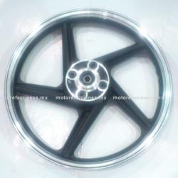 Rin Trasero Italika FT150 / FT150 GT / RT180 / FT180 - (Negro c/ Cromo)