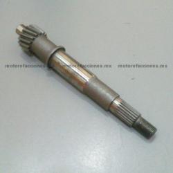Eje de Engrane de Transmision (flecha de clutch) para Motonetas - Italika - Vento - Dinamo - Leike - Lifan – Carabela