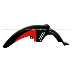 Salpicadera Delantera Completa Motocicleta Italika FT150 (negro brillante con rojo)