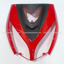 Cubierta de Faro Italika DS150 - Vento Phantom R5 - Carabela VX150 - Dream Siluete (Rojo c/ Negro Mate)