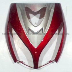 Cubierta de Faro Motoneta Italika DS150 - Vento Phantom R5 - Carabela VX150 - Dream Siluete (Vino c/ Plata)