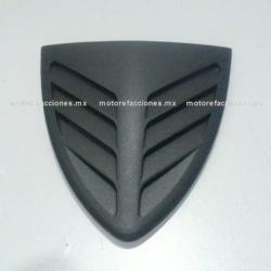 Placa Decorativa Cubierta de Faro Italika DS150 (2007 en adelante) - Phantom R5 - VX150 – Siluete (Negro Mate)