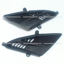 Tomas de Aire Frontales Italika DS150 (2006) / XS150 / DS125 - Vento Phantom R3 - Toromex Miura - Adventure (Negro)
