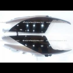 Cubiertas Traseras Italika DS125 / DS150 / XS150 - Phantom R4, R5 - Adventure - VX150 (Negro Brillante c/ Plata)