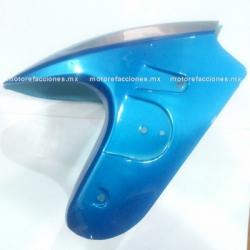 Salpicadera (Azul c/ Plata 2) Italika DS125 / DS150 / XS150 / TS170 – Phantom R4, R5 - Adventure - Siluete - Warrior