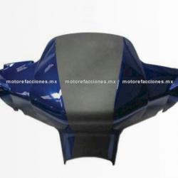 Cubierta de Manubrio (Antifaz) Motoneta Italika WS150 (Azul c/ Negro)