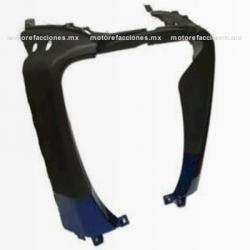 Cubierta Frontal Inferior (panel o encarenado) Motoneta Italika WS150 (Azul c/ Negro)