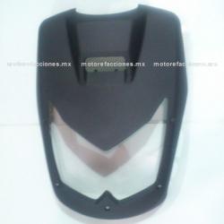 Cubierta de Faro Motoneta Italika WS175 / WS150 Nueva Versión (Negro Mate)