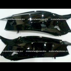 Cubiertas Traseras (Juego) Motoneta Italika GS150 / GTS175 - Vento Phantom 9i (Negro Brillante)