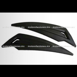 Rejillas para Cubiertas Traseras Motoneta Italika GS150 / GTS175 - Vento Phantom 9i (Negro Mate)