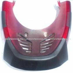 Cubierta Frontal Inferior (panel o encarenado) Motoneta Italika GS150 / GTS175 - Vento Phantom 9i (Vino c/ Negro Mate)