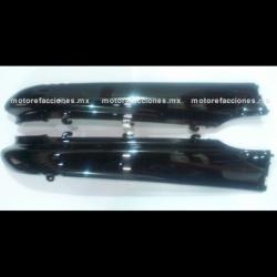 Cubiertas Traseras Inferiores (molduras) Motoneta Italika CS125 / XS125 (Negro Brillante)