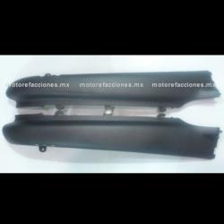 Cubiertas Traseras Inferiores (molduras) Motoneta Italika CS125 / XS125 (Negro Mate)