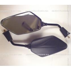 Espejos Negros Rombo Grandes (8mm)
