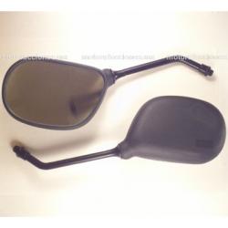 Espejos Negros Medianos Ovales (10mm) - Itaka DT125 / DT150