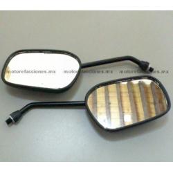 Espejos Negros Grandes (10mm) - Honda Cargo / Titan
