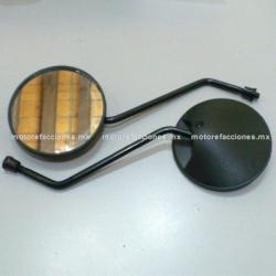 Espejos Negros Redondos Italika WS150 / WS175 - (8mm)