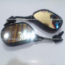 Espejos Negros - Yamaha FZ16 (10mm - Espejo Derecho de Cuerda Izquierda)