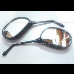 Espejos Negros - Yamaha YBR 125 (10mm - Espejo Derecho de Cuerda Izquierda)