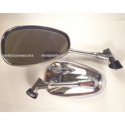 Espejos Cromados Grandes Custom (10mm)