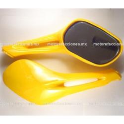 Espejos p/ Motoneta (amarillo)