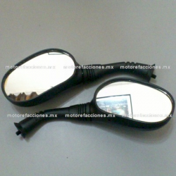 Espejos Negros para Motonetas - Italika CS125 / XS125 / DS150 / GS150 / GTS175 (8mm) - ORIGINALES GRUESOS
