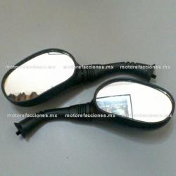 Espejos Negros para Motonetas - Italika CS125 / XS125 / DS150 / GS150 / GTS175 (8mm) - ORIGINALES