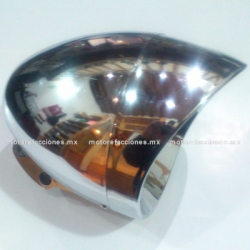 Faro Universal Cromado - Motocicletas tipo Custom (Choper) - ECONOMICO