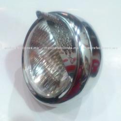 Faro Universal Cromado METALICO - Motocicletas tipo Custom (Choper) - Suzuki GN125 / GN250