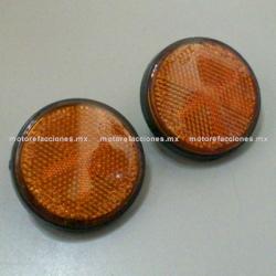 Jgo. Reflejantes Circulares para Motonetas y Motocicletas (par)