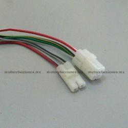 Arnes para CDI de Motonetas - Italika DS150 / XS150 / GS150 / GTS175 / WS150 / WS175 - Entradas Redondas