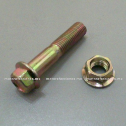 Tornillo 10x55 de Manubrio / Soporte de Motor / Amortiguador (con tuerca) - Motonetas - Italika - Vento - Dinamo – Leike