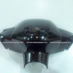 Cubierta de Manubrio (Antifaz) Motoneta Italika WS175 / WS150 (Negro Brillante)