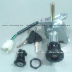 Switch Completo con Llave Italika Vitalia 125 - 4 Cables