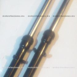 Barras de Suspension Delanteras para Italika FT125 (par) (negro)