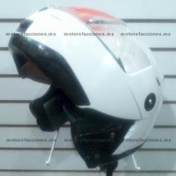 Casco Integral Certificado - Careta y Mica Abatibles Abatible - JK111 (blanco liso)